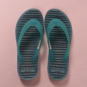 Sperry Girls Jelly Flip Flops - Little Girls Sz 1